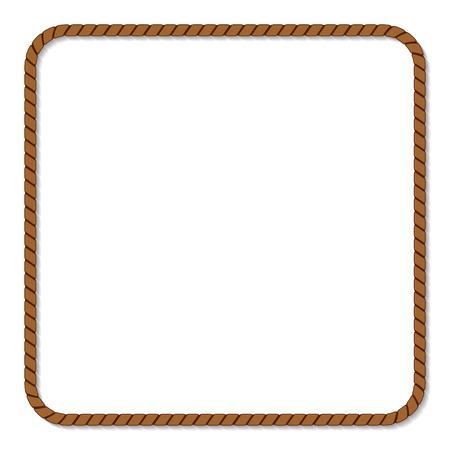 objetos cuadrados: marco de la cuerda