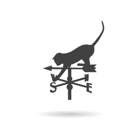 rooster weather vane: weather vane icon