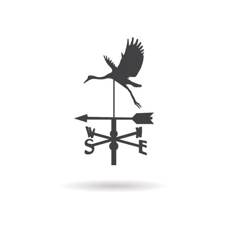 rooster weather vane: weather vane icon