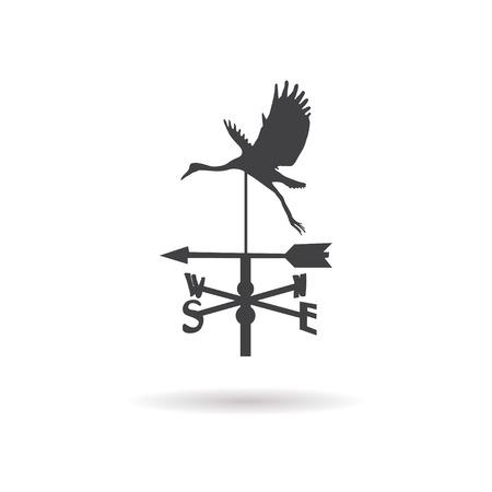 weathercock: weather vane icon