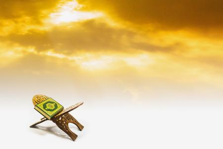 prayer background: koran with sky