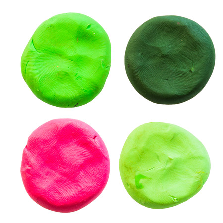 malleable: circlemodelling clay of different colors Stock Photo