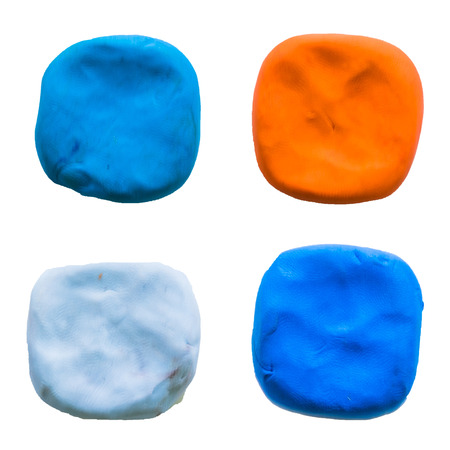 malleable: square modelling clay of different colors