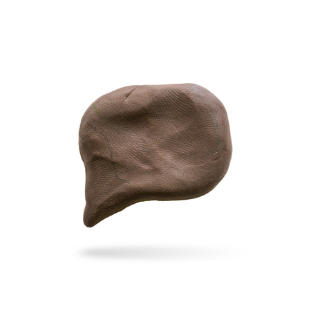 callout: callout icon modelling clay Stock Photo