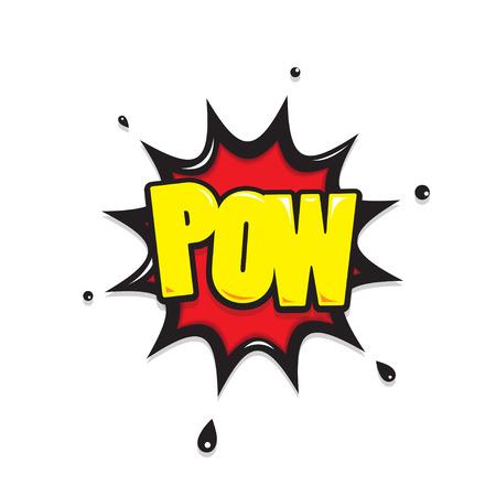 pow: pow  icon comic