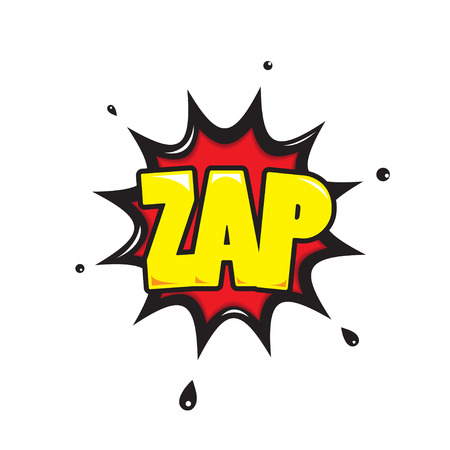 zonk: Zap  Comic Speech Bubble Cartoon