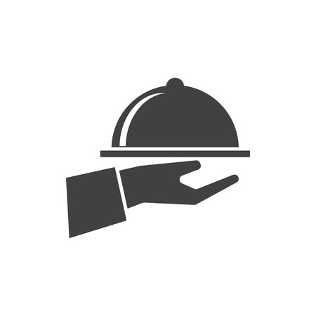 hand with dish icon