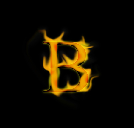 fire background: Fire letter Stock Photo