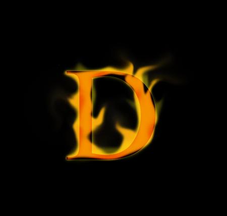 fire letter: Fire letter Stock Photo