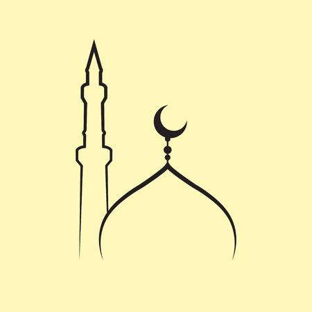 mosque vector  イラスト・ベクター素材