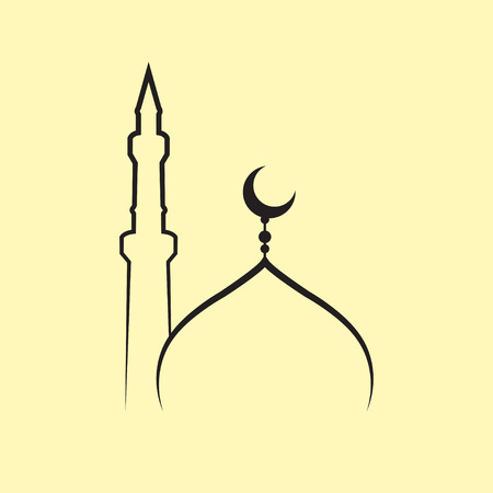 mosque vector Stock Illustratie