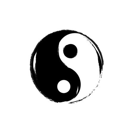 taoism: Yin Yang symbol.  Illustration
