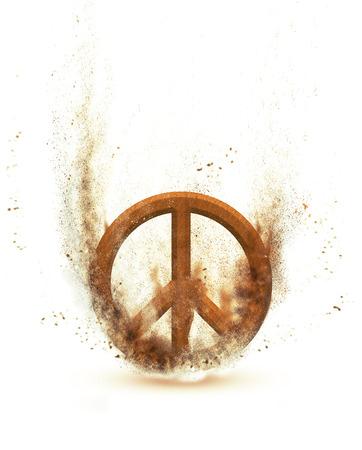 simbolo paz: paz Foto de archivo