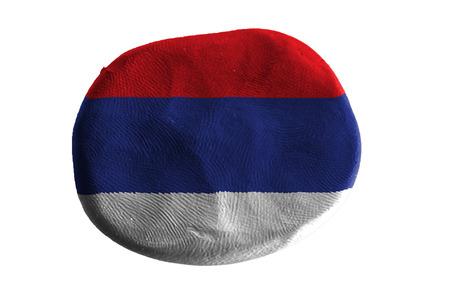 serbia: serbia   flag ,clay
