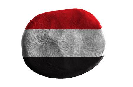 yemen: yemen  flag ,clay Stock Photo