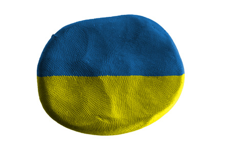 ukraine flag: ukraine flag,clay