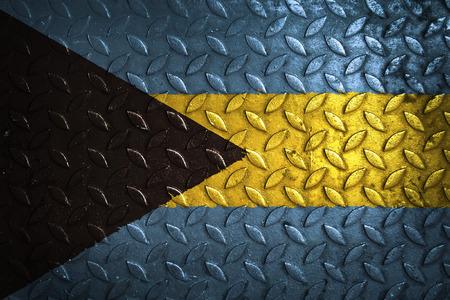 bahama's: bahamas flag,metal texture