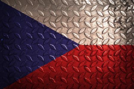 czech: czech flag,metal texture