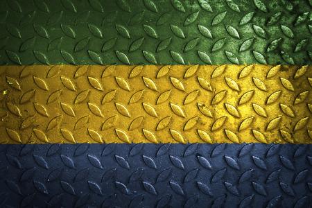 gabon: gabon flag,metal texture