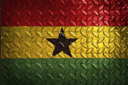 Ghana: ghana flag,metal texture Stock Photo