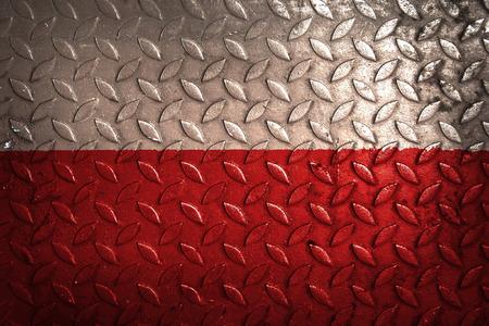 bandera de polonia: bandera polaca, la textura del metal