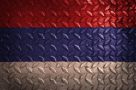 serbia flag: serbia flag,metal texture