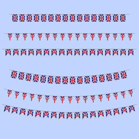 queens jubilee: England bunting  flags