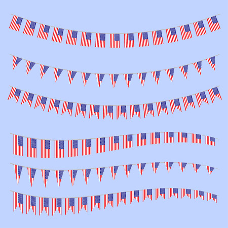bunting flags: United States  bunting  flags