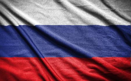 bandera rusia: Bandera de Rusia Foto de archivo