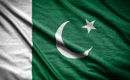 pakistani: pakistan flag Stock Photo