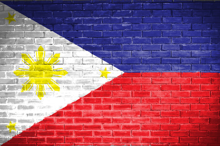 Philippines flag,wall texture background