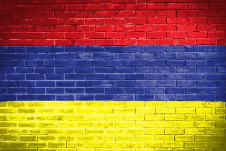 armenia: armenia flag,wall texture background Stock Photo