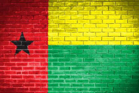 guinea: guinea bissau flag,wall texture background Stock Photo