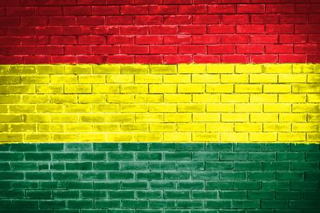 bandera de bolivia: bandera de Bolivia, textura de la pared de fondo