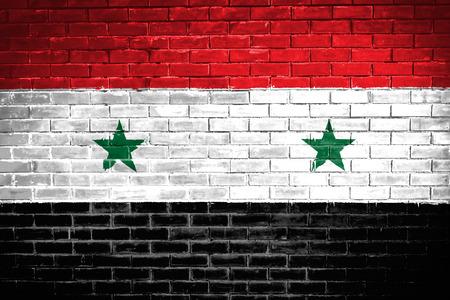 Syria: syria flag,wall texture background