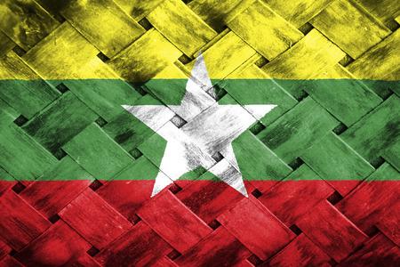 weave: burma flag,Weave Bamboo