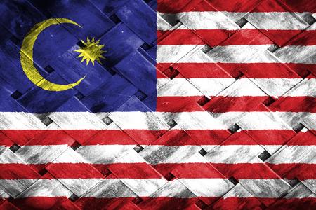 マレーシアの国旗、織り竹