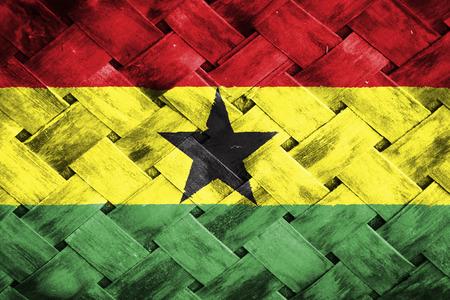 thatch: ghana flag,,Weave Bamboo