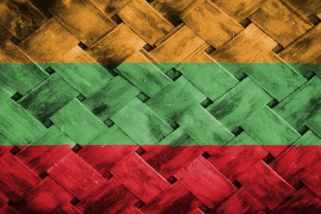 lithuania: lithuania flag,Weave Bamboo