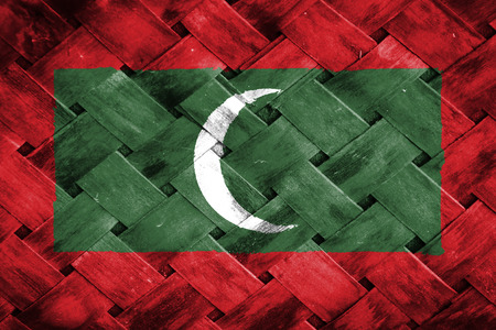 rattan: maldives flag,Weave Bamboo