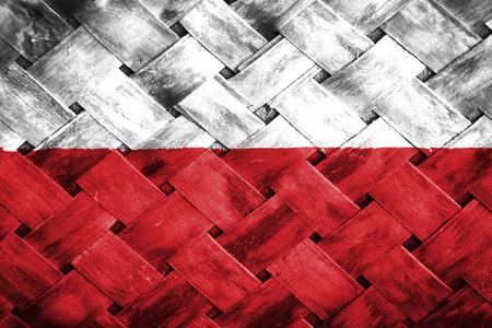 weave: polish flag,Weave Bamboo Stock Photo