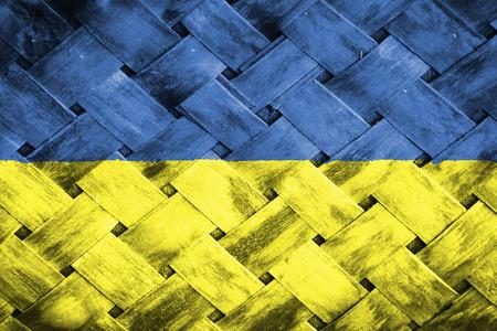 ukraine flag: Ukraine flag ,Weave Bamboo