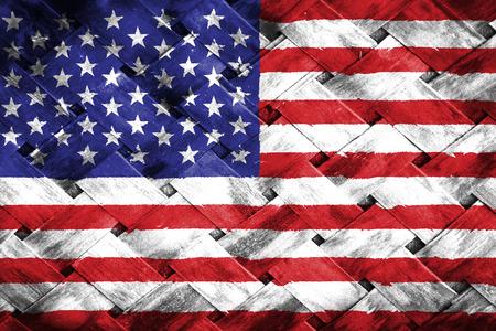 미국 국기, 대나무를 짜다 스톡 콘텐츠