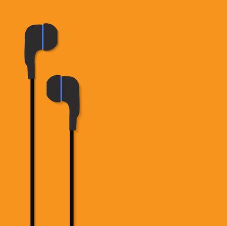 listen ear: ear phones vector