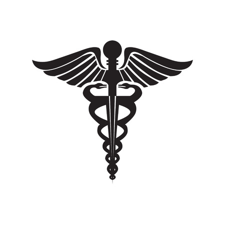 pharmacy symbol: the staff of hermes