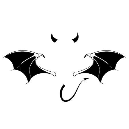 teufel engel: Teufel Vektor- Illustration
