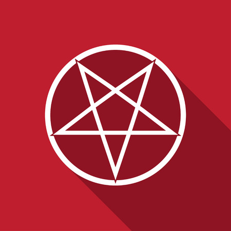 antichrist: flaming pentagram vector Illustration