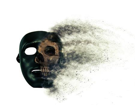 white mask: Mask and skull