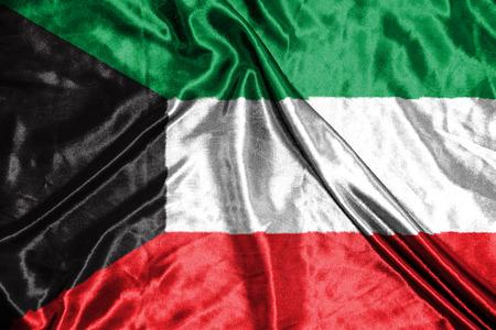 kuwait: kuwait flag Stock Photo