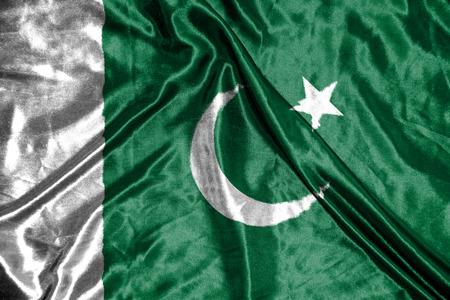 pakistan flag: pakistan flag Stock Photo